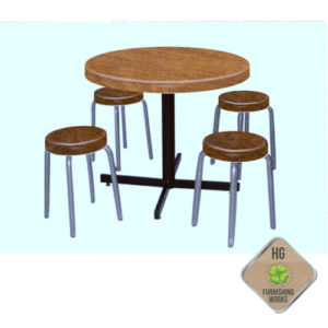 Fibreglass Cafe Round Table